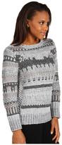 MICHAEL Michael Kors L/S Textured Intarsia Top