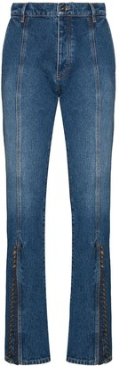 Y/Project High Waist Buttoned Flared Jeans