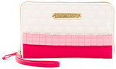 Betsey Johnson Quilted Ruffle Travel Wristlet