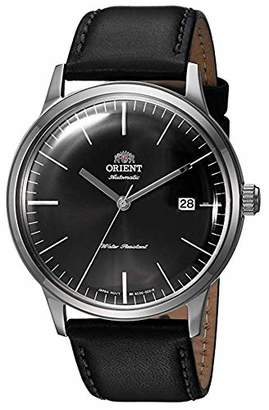 Orient Men's 2nd Gen. Bambino Ver. 3 Stainless Steel Japanese-Automatic Watch with Leather Calfskin Strap