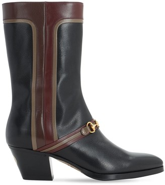 Gucci 55mm Leather Boots