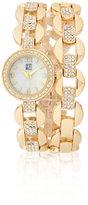 New York & Co. Glittering Goldtone Bracelet Watch