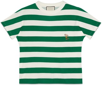 Gucci Striped T-shirt with piglet patch
