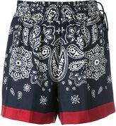 Moncler paisley print shorts