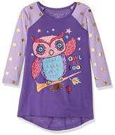 Komar Kids Big Girls' Owl Jersey Nightgown