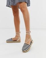 Pieces espadrille tie up sandal