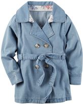 Carter's Toddler Girl Denim Trench Coat