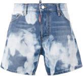 DSQUARED2 bleached denim shorts