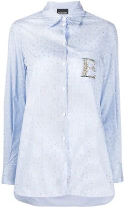 Ermanno Ermanno Embellished Logo Star Print Shirt