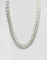 Pilgrim Silver Plated Chevron Necklace
