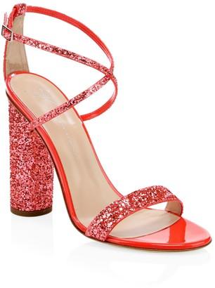 Giuseppe Zanotti Block-Heel Glitter Sandals