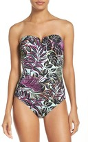 Tommy Bahama Women's Lively Leaves One-Piece Swimsuit