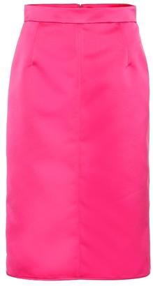 N°21 High-rise satin pencil skirt