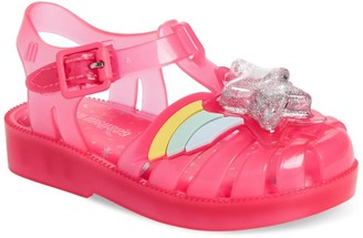 Mini Melissa Mini Possession II Glitter Sandal (Toddler)