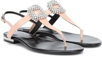 Roger Vivier Diadem Mini leather sandals