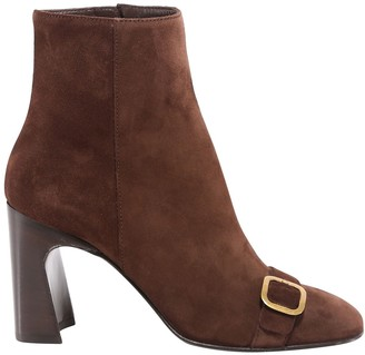 Tod's Buckle Detail Block Heel Ankle Boots