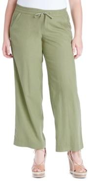 Jessica Simpson Trendy Plus Size Nara Pull-On Linen Pants