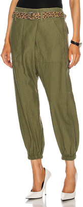 R 13 Crossover Utility Drop Pant in Olive | FWRD