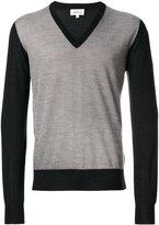 Brioni contrasting V-neck pullover - men - Silk/Cashmere/Wool - 50