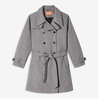 Joe Fresh Women+ Trench Coat, Charcoal Mix (Size 3X)