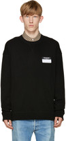 Ami Alexandre Mattiussi Black Name Tag Sweater