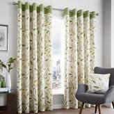 Kaleidoscope Beechwood Lined Eyelet Curtains