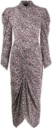 Isabel Marant Abstract-Print Mid-Length Dress