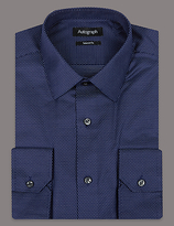 Autograph Supima® Cotton Tailored Fit Twill Shirt