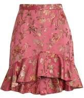 Zimmermann Ruffled Brocade Mini Skirt