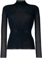 Twin-Set sheer fitted turtleneck sweater