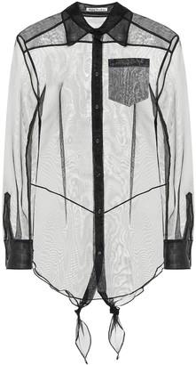 Acne Studios Sheer cotton blouse