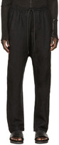 Isabel Benenato Black Linen Relaxed Trousers