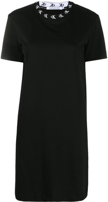 Calvin Klein Jeans logo embroidered T-shirt dress