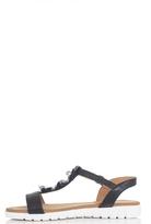 Quiz Black Sequin Flower Strap Sandals