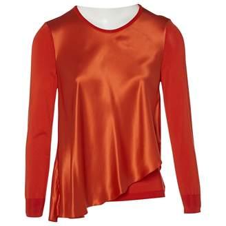 Givenchy Orange Silk Knitwear