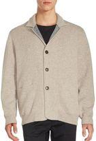 Brunello Cucinelli Button-Down Cashmere-Blend Sweater