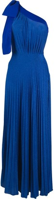 Elisabetta Franchi One Shoulder Maxi Dress