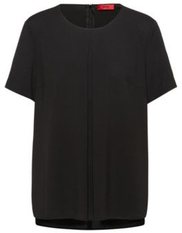 HUGO Regular-fit T-shirt top with front pleats