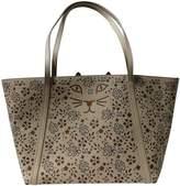 Charlotte Olympia Beige Leather Handbags