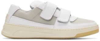 Acne Studios White Hook Perey Strap Sneakers