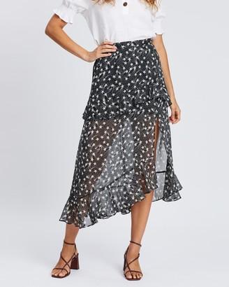 Topshop Star Ruffle Maxi Skirt