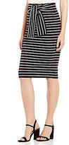 Gianni Bini Vanessa Tie Front Knit Midi Skirt