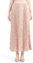 Valentino 'Cascade Triangle' Print Plissé Maxi Skirt