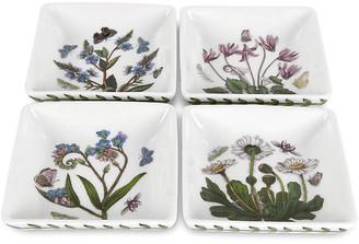 Portmeirion Set of 4 Botanic Garden Square Mini Dishes