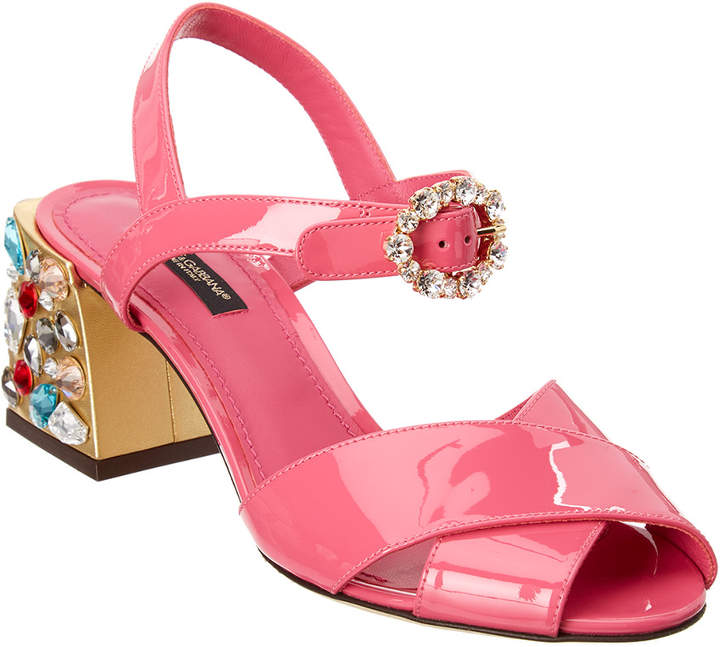 Dolce & Gabbana Embellished Patent Sandal