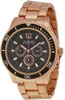 August Steiner Multi-Function Black Dial Rose Gold-Tone Men's Watch