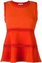 Carven flared top - women - Polyester/Polyurethane/Spandex/Elastane - S