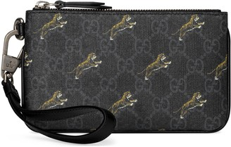Gucci GG iPhone case with tiger print