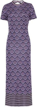 Paco Rabanne Metallic Jacquard Midi Dress