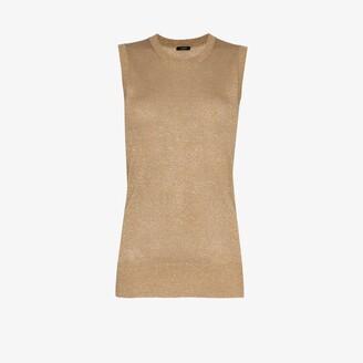 Joseph Knitted Metallic Vest
